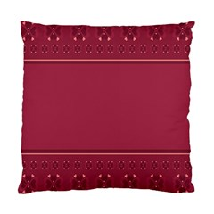 Heart Pattern Background In Dark Pink Standard Cushion Case (two Sides)