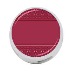 Heart Pattern Background In Dark Pink 4-Port USB Hub (Two Sides)