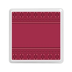 Heart Pattern Background In Dark Pink Memory Card Reader (square)