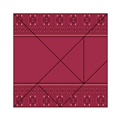 Heart Pattern Background In Dark Pink Acrylic Tangram Puzzle (6  x 6 )