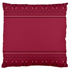 Heart Pattern Background In Dark Pink Large Cushion Case (Two Sides)