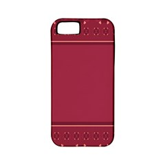 Heart Pattern Background In Dark Pink Apple iPhone 5 Classic Hardshell Case (PC+Silicone)