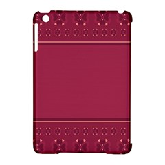 Heart Pattern Background In Dark Pink Apple iPad Mini Hardshell Case (Compatible with Smart Cover)