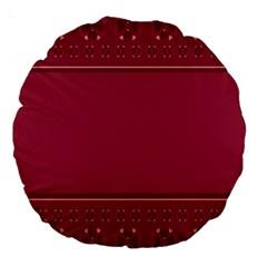 Heart Pattern Background In Dark Pink Large 18  Premium Round Cushions