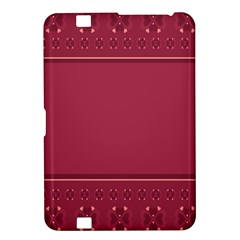 Heart Pattern Background In Dark Pink Kindle Fire HD 8.9