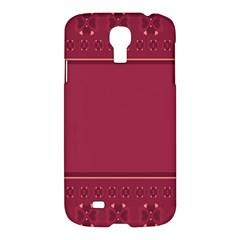 Heart Pattern Background In Dark Pink Samsung Galaxy S4 I9500/I9505 Hardshell Case