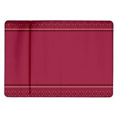 Heart Pattern Background In Dark Pink Samsung Galaxy Tab 10.1  P7500 Flip Case