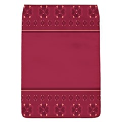 Heart Pattern Background In Dark Pink Flap Covers (L)