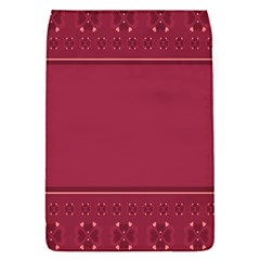 Heart Pattern Background In Dark Pink Flap Covers (S)