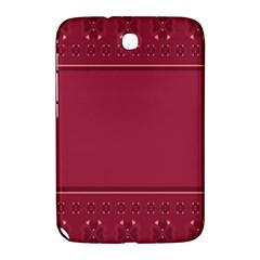 Heart Pattern Background In Dark Pink Samsung Galaxy Note 8 0 N5100 Hardshell Case