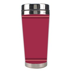 Heart Pattern Background In Dark Pink Stainless Steel Travel Tumblers