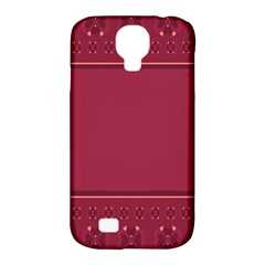 Heart Pattern Background In Dark Pink Samsung Galaxy S4 Classic Hardshell Case (PC+Silicone)