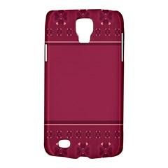 Heart Pattern Background In Dark Pink Galaxy S4 Active
