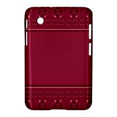 Heart Pattern Background In Dark Pink Samsung Galaxy Tab 2 (7 ) P3100 Hardshell Case
