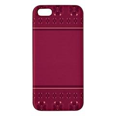 Heart Pattern Background In Dark Pink Iphone 5s/ Se Premium Hardshell Case