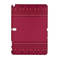 Heart Pattern Background In Dark Pink Galaxy Note 1