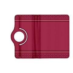 Heart Pattern Background In Dark Pink Kindle Fire HD (2013) Flip 360 Case