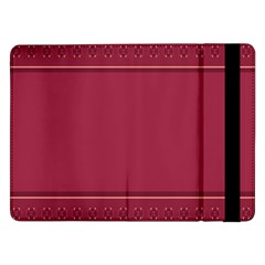 Heart Pattern Background In Dark Pink Samsung Galaxy Tab Pro 12.2  Flip Case