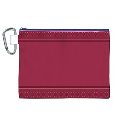 Heart Pattern Background In Dark Pink Canvas Cosmetic Bag (xl)