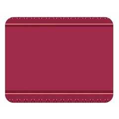 Heart Pattern Background In Dark Pink Double Sided Flano Blanket (large)