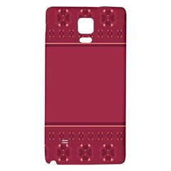 Heart Pattern Background In Dark Pink Galaxy Note 4 Back Case
