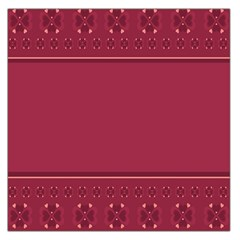Heart Pattern Background In Dark Pink Large Satin Scarf (square)
