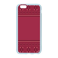 Heart Pattern Background In Dark Pink Apple Seamless iPhone 6/6S Case (Color)