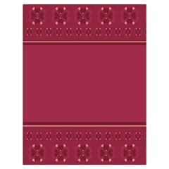 Heart Pattern Background In Dark Pink Drawstring Bag (Large)