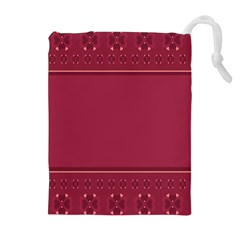 Heart Pattern Background In Dark Pink Drawstring Pouches (Extra Large)