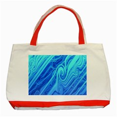 Vintage Pattern Background Wallpaper Classic Tote Bag (Red)