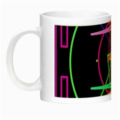 Drawing Of A Color Mandala On Black Night Luminous Mugs