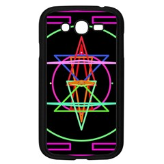 Drawing Of A Color Mandala On Black Samsung Galaxy Grand DUOS I9082 Case (Black)