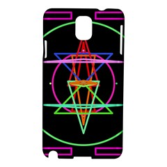 Drawing Of A Color Mandala On Black Samsung Galaxy Note 3 N9005 Hardshell Case