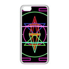 Drawing Of A Color Mandala On Black Apple iPhone 5C Seamless Case (White)
