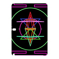Drawing Of A Color Mandala On Black Samsung Galaxy Tab Pro 10.1 Hardshell Case