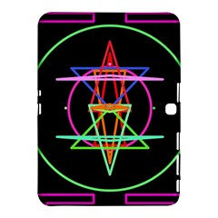 Drawing Of A Color Mandala On Black Samsung Galaxy Tab 4 (10 1 ) Hardshell Case