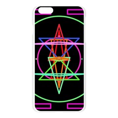 Drawing Of A Color Mandala On Black Apple Seamless iPhone 6 Plus/6S Plus Case (Transparent)