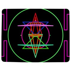 Drawing Of A Color Mandala On Black Jigsaw Puzzle Photo Stand (rectangular)