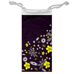 Vintage Retro Floral Flowers Wallpaper Pattern Background Jewelry Bag