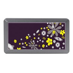 Vintage Retro Floral Flowers Wallpaper Pattern Background Memory Card Reader (Mini)