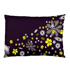 Vintage Retro Floral Flowers Wallpaper Pattern Background Pillow Case (two Sides)