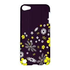 Vintage Retro Floral Flowers Wallpaper Pattern Background Apple iPod Touch 5 Hardshell Case
