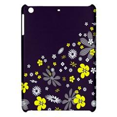 Vintage Retro Floral Flowers Wallpaper Pattern Background Apple iPad Mini Hardshell Case
