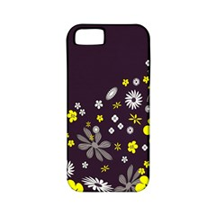 Vintage Retro Floral Flowers Wallpaper Pattern Background Apple iPhone 5 Classic Hardshell Case (PC+Silicone)