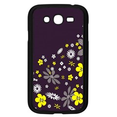 Vintage Retro Floral Flowers Wallpaper Pattern Background Samsung Galaxy Grand DUOS I9082 Case (Black)