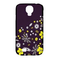 Vintage Retro Floral Flowers Wallpaper Pattern Background Samsung Galaxy S4 Classic Hardshell Case (PC+Silicone)
