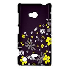 Vintage Retro Floral Flowers Wallpaper Pattern Background Nokia Lumia 720