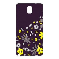 Vintage Retro Floral Flowers Wallpaper Pattern Background Samsung Galaxy Note 3 N9005 Hardshell Back Case