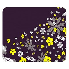 Vintage Retro Floral Flowers Wallpaper Pattern Background Double Sided Flano Blanket (Small)