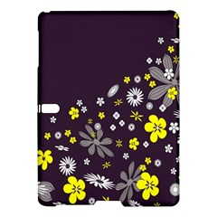 Vintage Retro Floral Flowers Wallpaper Pattern Background Samsung Galaxy Tab S (10.5 ) Hardshell Case